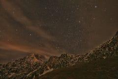 Nacht op een berg Royalty-vrije Stock Afbeelding