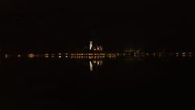 Nacht op een meer Royalty-vrije Stock Foto