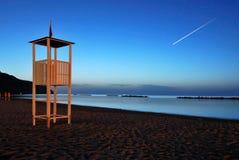 Nacht op het strand Stock Foto