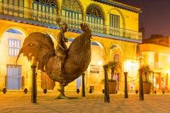 Nacht in Oud Havana stock afbeelding