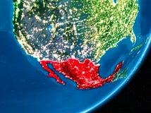Nacht over Mexico royalty-vrije illustratie