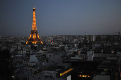 Nacht Parijs Royalty-vrije Stock Foto