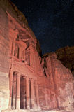 Nacht in Petra stock foto