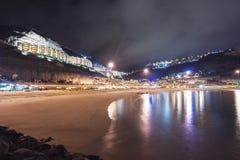 Nacht Playa Amadores Gran Canaria Stockfotografie