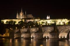 Nacht in Praag Royalty-vrije Stock Fotografie