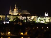 Nacht Praag Stock Fotografie