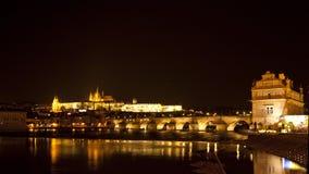 Nacht Praag Stock Afbeeldingen