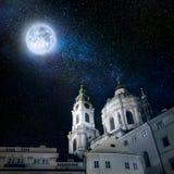Nacht Praag Royalty-vrije Stock Foto's