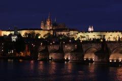 Nacht in Prag Lizenzfreies Stockbild