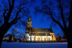 Nacht Prag Stockfotografie