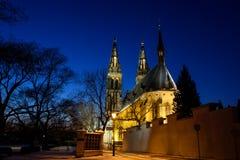 Nacht Prag Lizenzfreies Stockbild