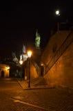 Nacht Prag - nocni Praha Royalty-vrije Stock Fotografie