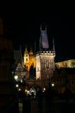 Nacht Prag - nocni Praha Stock Afbeeldingen