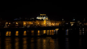 Nacht Prag - nocni Praha Royalty-vrije Stock Foto's