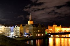 Nacht Praha Royalty-vrije Stock Foto