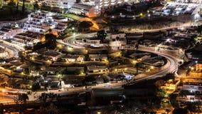 Nacht Puerto Rico, Kanarische Insel lizenzfreie stockbilder