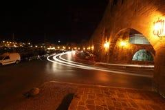 Nacht Rhodos Stockfoto
