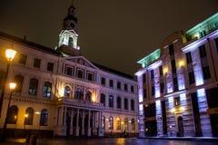 Nacht Riga Stock Foto
