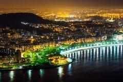 Nacht in Rio de Janeiro Royalty-vrije Stock Fotografie