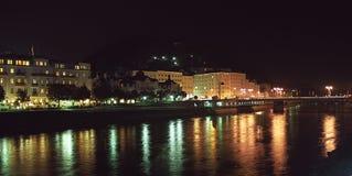 Nacht in Salzburg Stock Afbeelding
