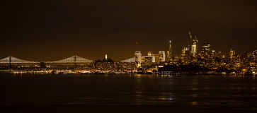 Nacht San Francisco stockbild