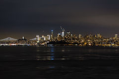 Nacht San Francisco lizenzfreie stockfotos