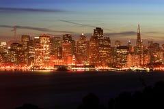 Nacht San Francisco, Horizon Royalty-vrije Stock Fotografie