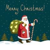 Nacht Santa Claus Lizenzfreie Stockfotografie