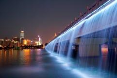 nacht scènes van moderne stad   royalty-vrije stock afbeelding