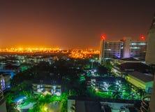Nacht scape in de stad Stock Afbeelding