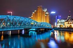 Nacht scape van Shanghai Royalty-vrije Stock Afbeeldingen
