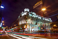 Nacht scape van Shanghai Stock Foto