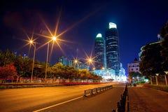 Nacht scape van Shanghai Stock Afbeelding