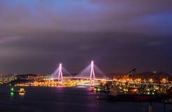 Nacht-scape von Busan, Südkorea lizenzfreie stockfotografie