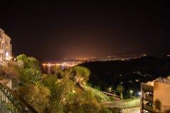 Nacht in Sicilië Royalty-vrije Stock Afbeelding