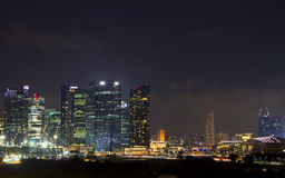 Nacht Singapore Royalty-vrije Stock Foto