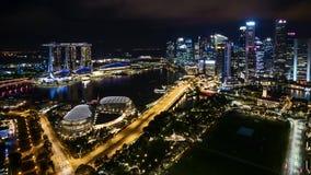 Nacht in Singapur stock video footage