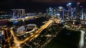 Nacht in Singapur stock video