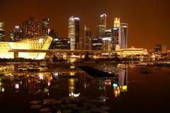 Nacht Singapur Stockfoto