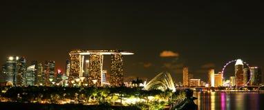 Nacht Singapur Lizenzfreie Stockfotos