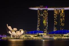Nacht Singapur Lizenzfreie Stockbilder