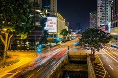 Nacht Singapur Stockbilder