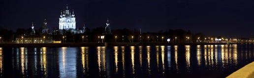 Nacht Smolnyj Stock Foto's