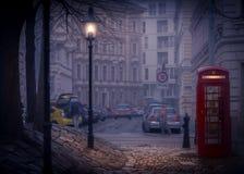 Nacht srteet van Wenen, Oostenrijk, Europa Royalty-vrije Stock Afbeelding