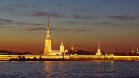 Nacht St Petersburg #2 stock video