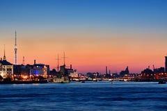 Nacht St Petersburg Stockbild