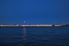 Nacht in St. Petersburg stock afbeelding