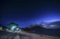 Nacht Stary Stary in einer Insel Stockfotografie