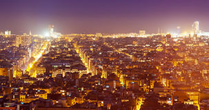 Nacht stedelijk landschap royalty-vrije stock afbeelding