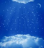 nacht sterrige hemel Stock Afbeelding